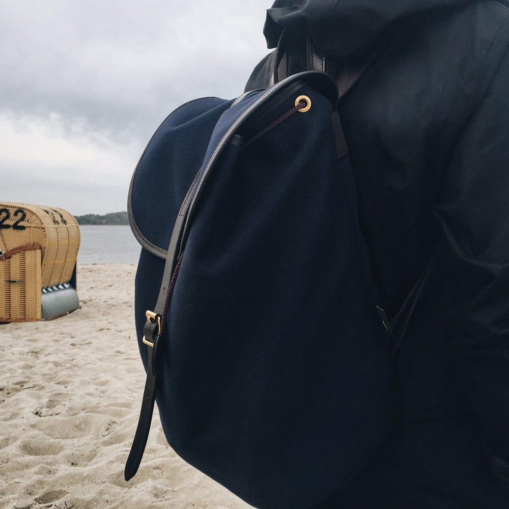Tasche am Strand