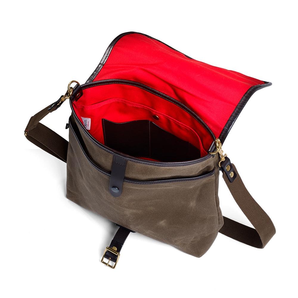 Croots Vintage Range Casual Messenger bag, olive 1