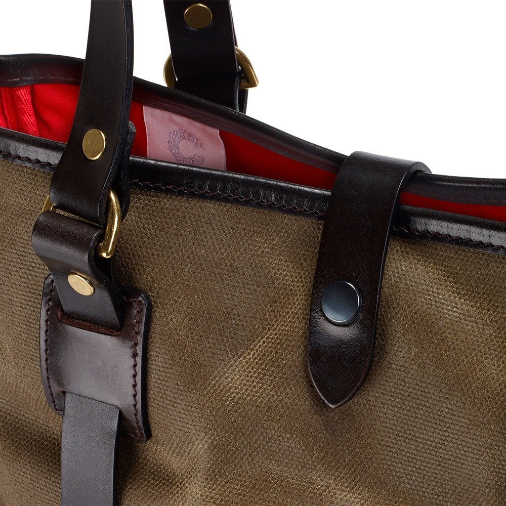 Croots Vintage Tote bag Range, olive 1