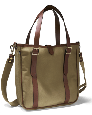 Tote bag Shopper tan in der Frontalansicht