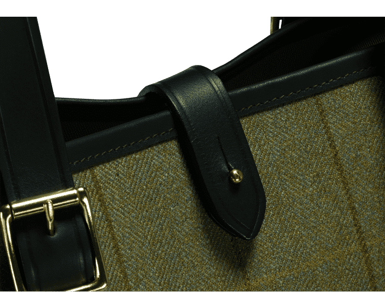 Croots Helmsley Tweed Tote bag, olive 2