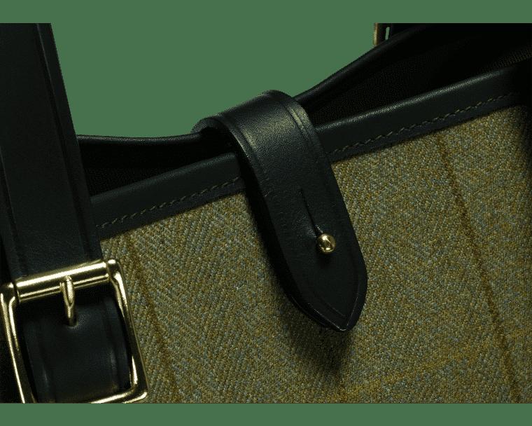 Croots Helmsley Tweed Tote bag, olive 2