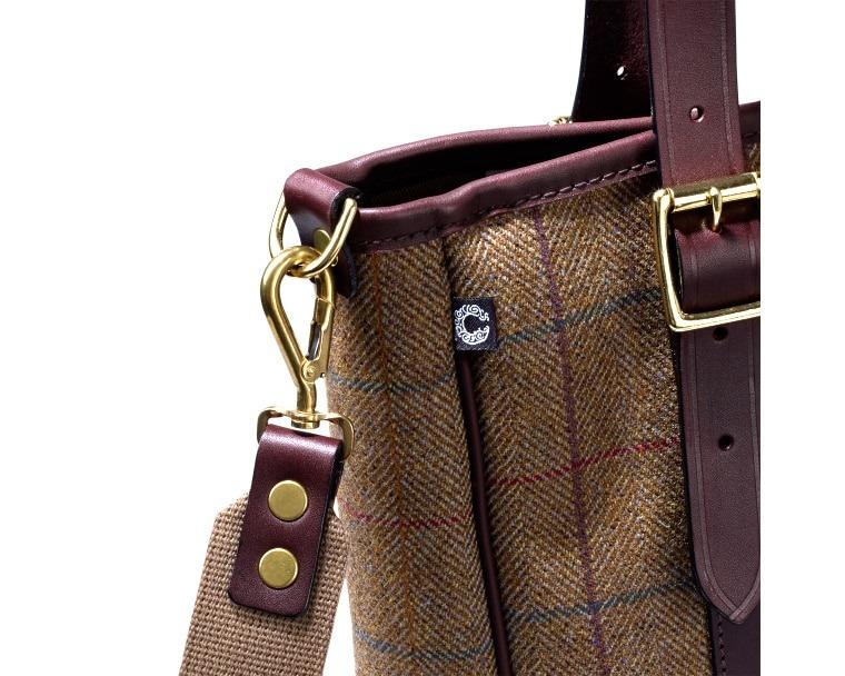 Croots Helmsley Tweed Tote bag, burgundy 1