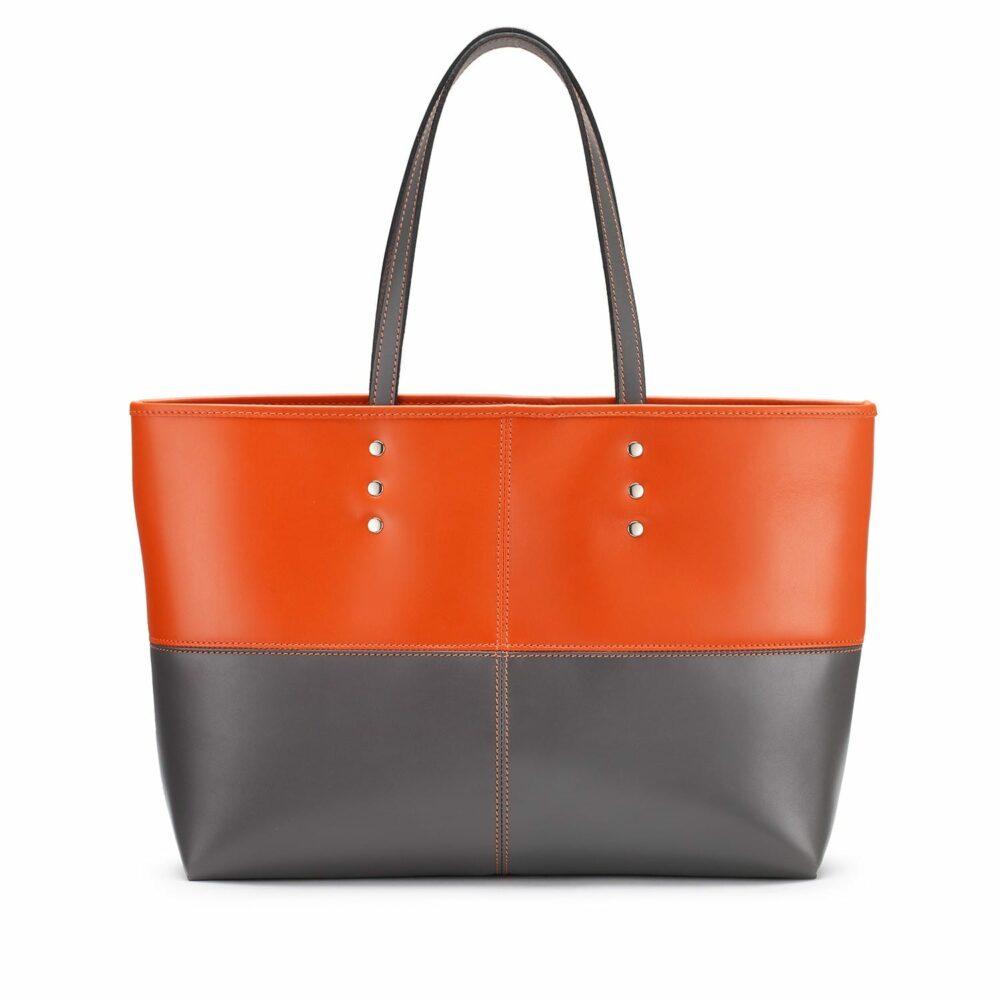 Tusting Ashton Tote bag, Leder, orange/grau 1