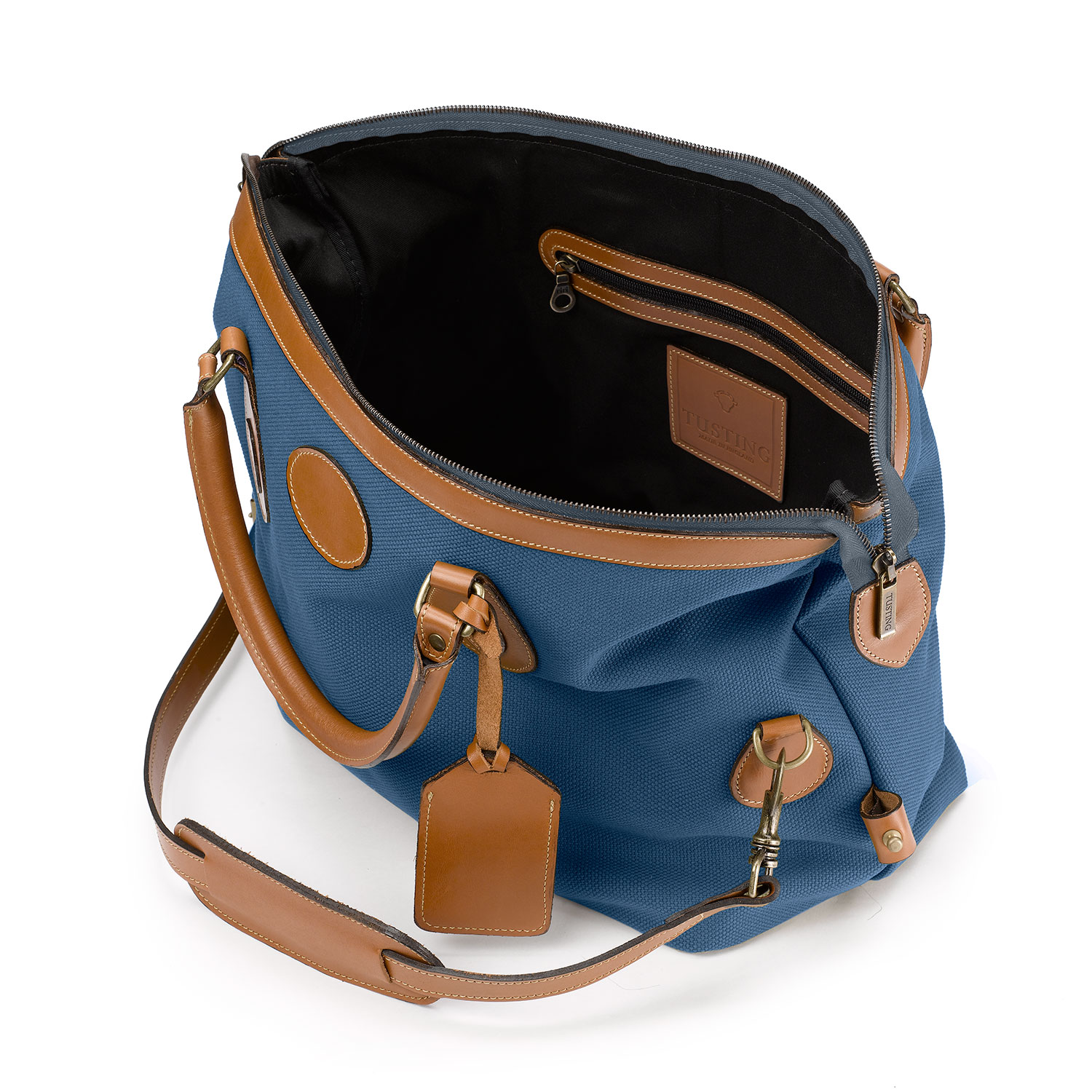 Tusting Explorer Tasche, medium, denim blue 5