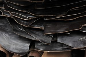 Das Leder Rohmaterial in Schwarz