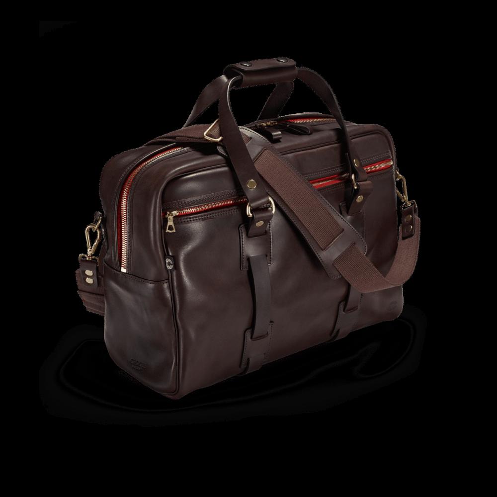 Vintage Leder traveller Dark Brown Frontal