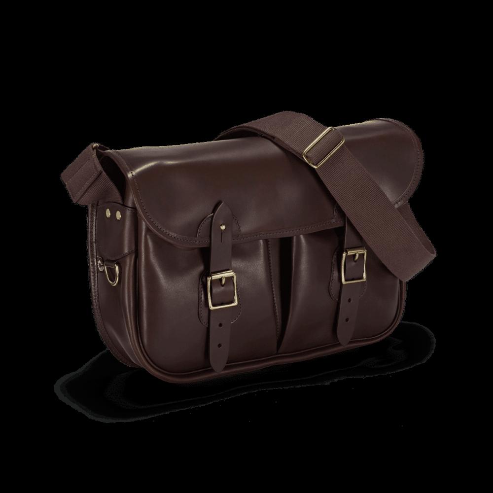 Vintage Leather Carryall Dark Brown Frontal