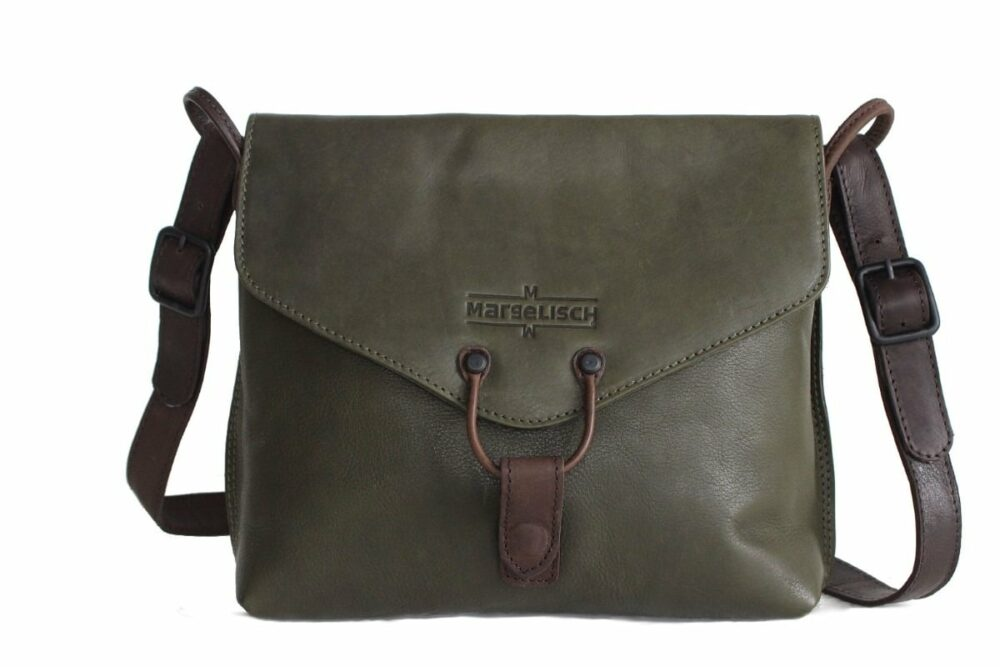 Shopper Elenor 2 mud green front