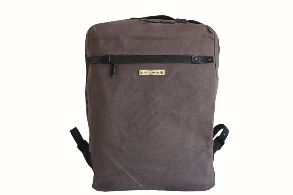 City Rucksack Pindi 2 canvas grey Vorderseite