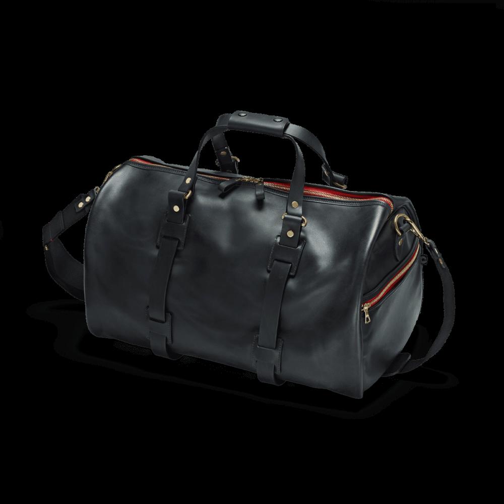 Reise Tasche Vintage Leder in Schwarz