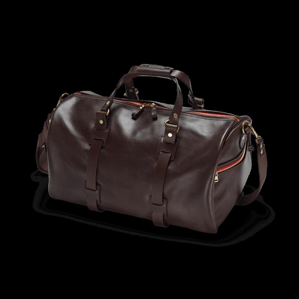 Reisetasche Vintage Leder in Dark Brown von vorne
