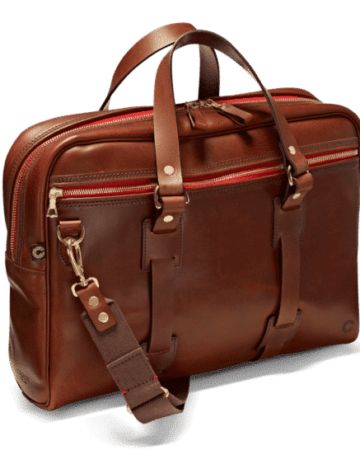 Vintage Leder Laptoptasche in attraktivem Port