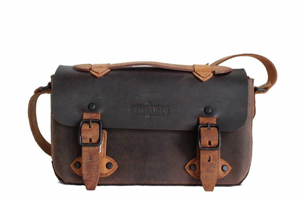 Retro Umhänge Tasche Pena 1 antik braun Front