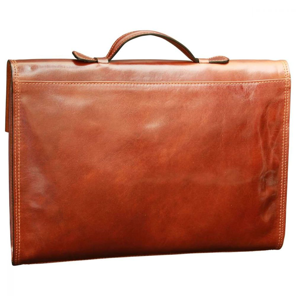Rückseite Business Aktentasche aus Leder