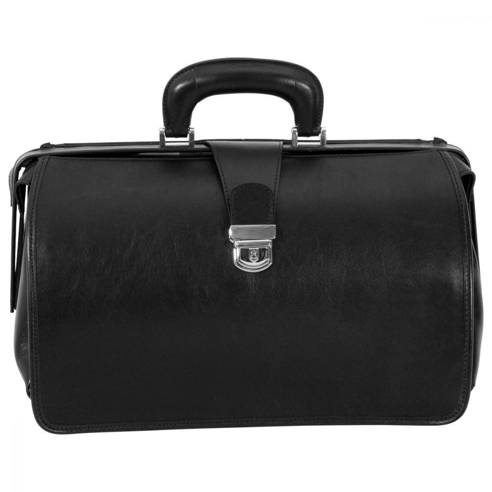 Arzttasche aus Leder schwarz
