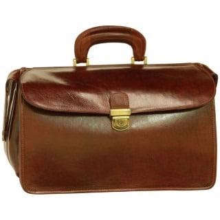 Arzttasche aus Leder braun