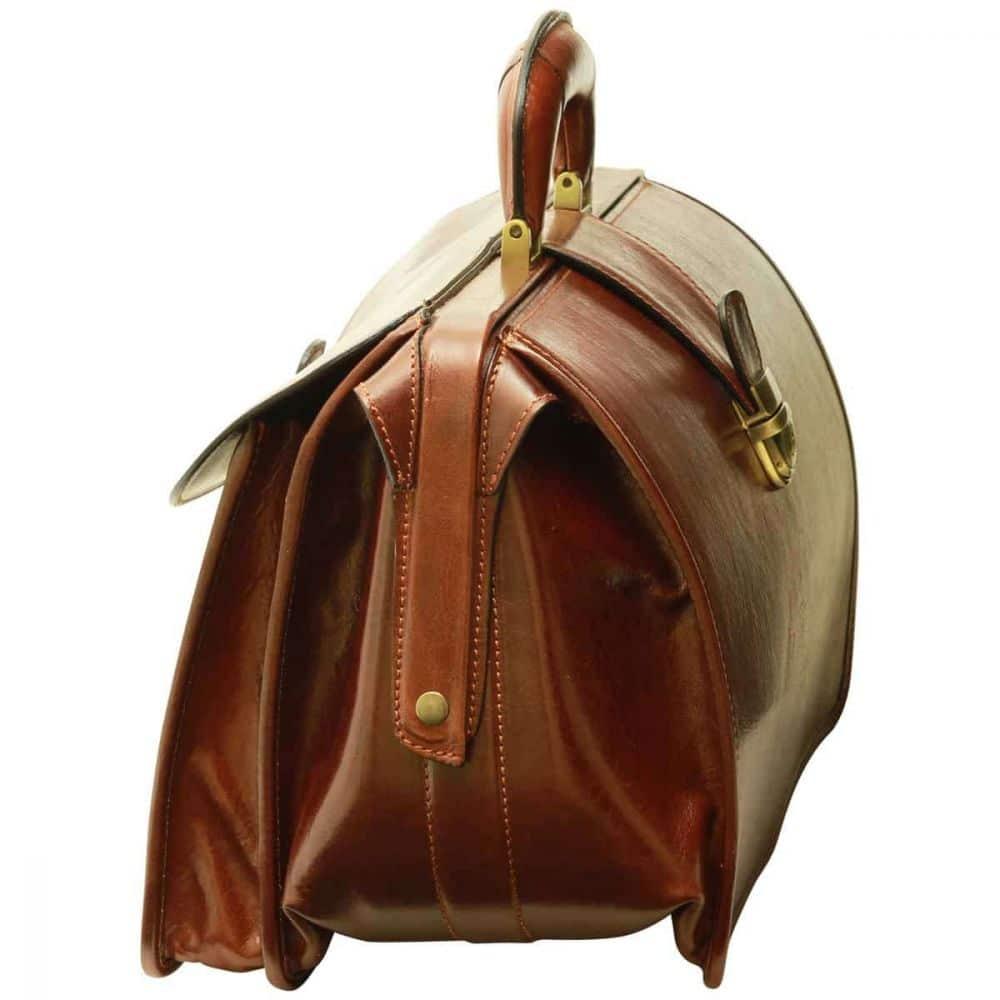 Seite Arzttasche aus Leder