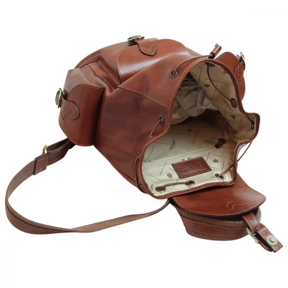 Offener Rucksack aus Leder