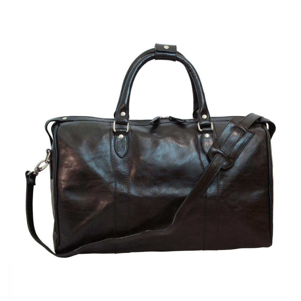 Reisetasche mit Schultergurt schwarz