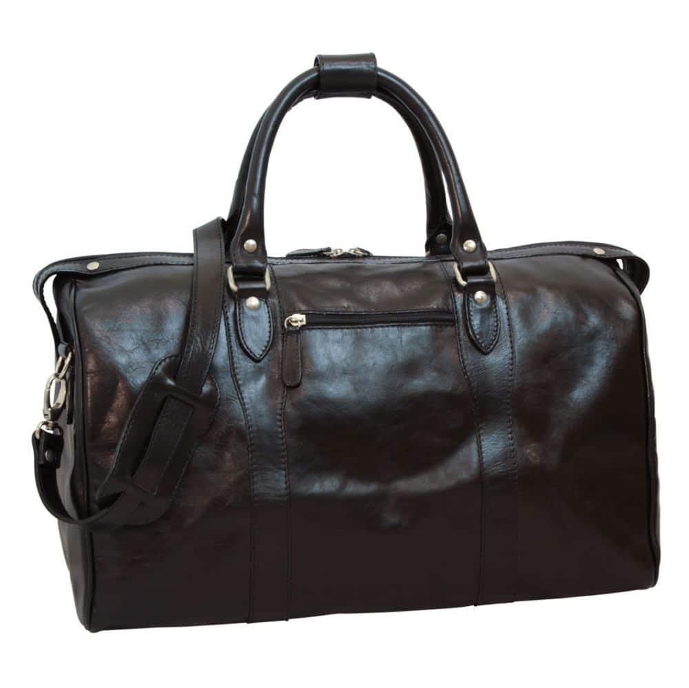 Front Reisetasche mit Schultergurt schwarz