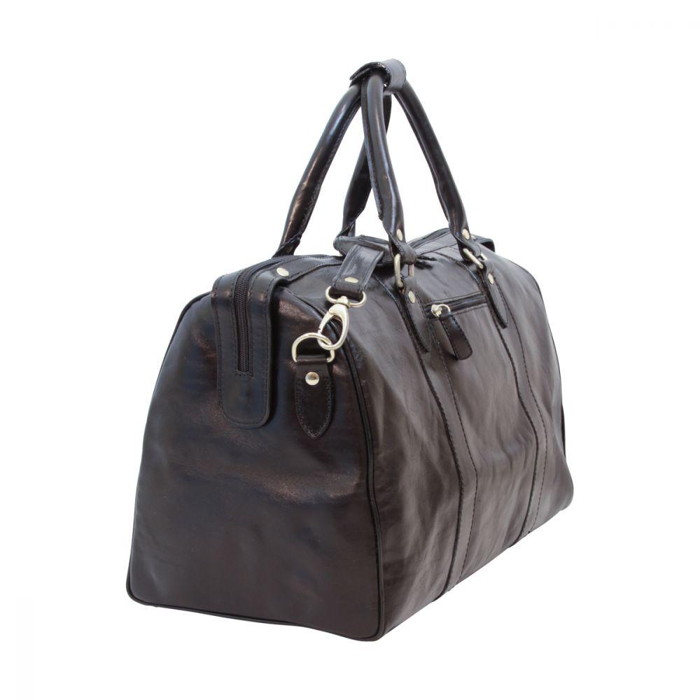 Querstehende Reisetasche mit Schultergurt schwarz