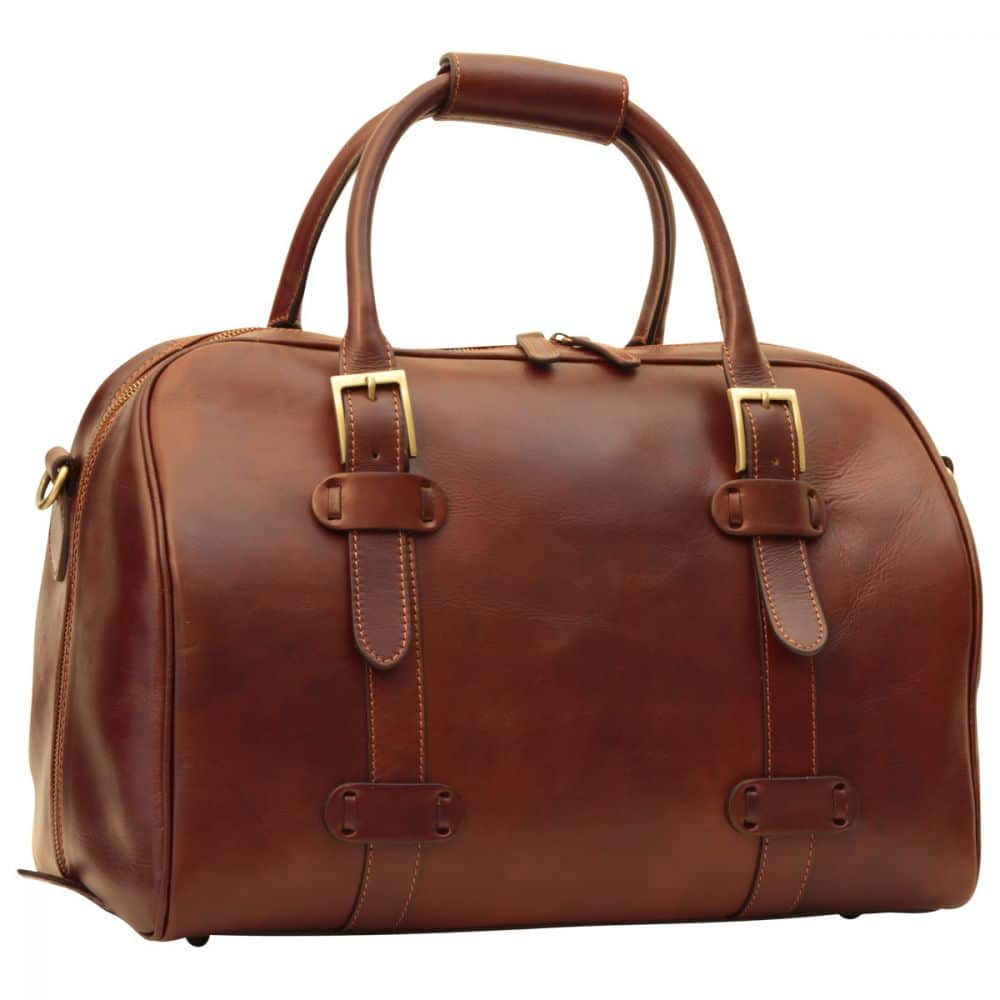 Front Duffle Bag Old Anger braun