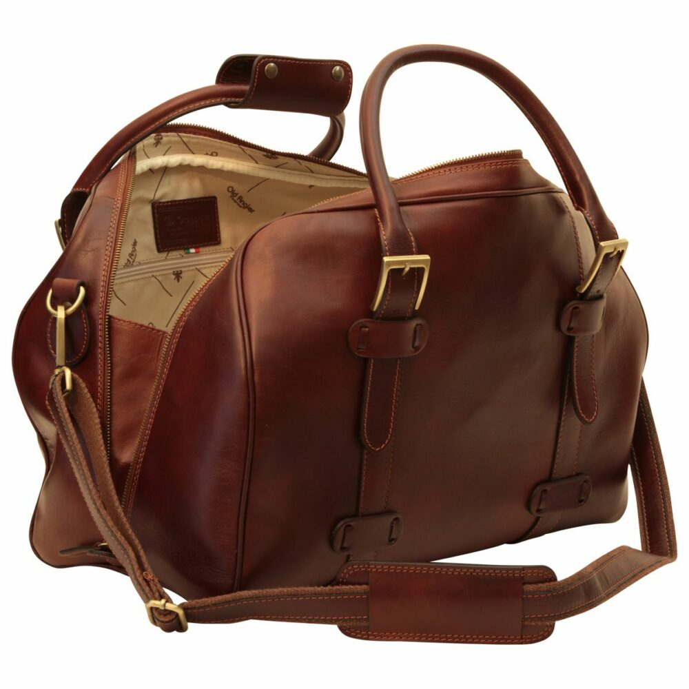 Offene Duffle Bag Old Anger braun