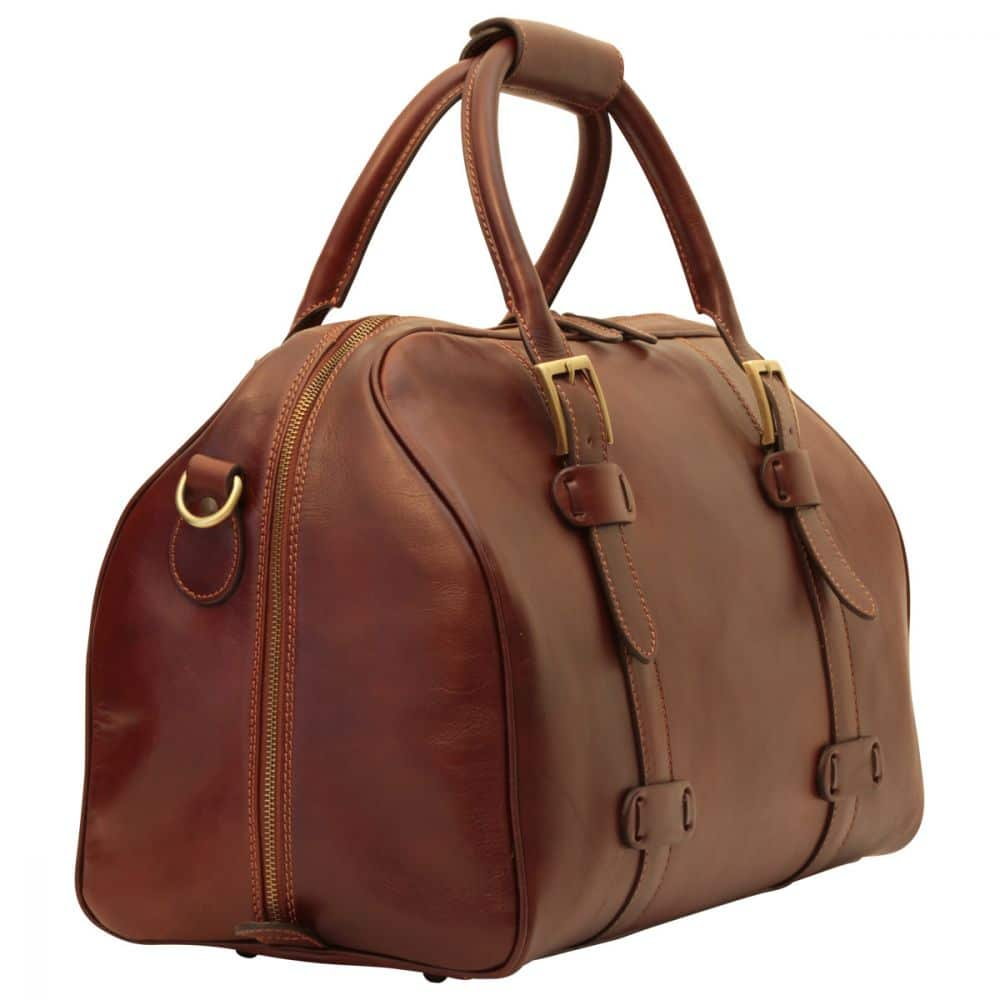 Quer stehende Duffle Bag Old Anger braun