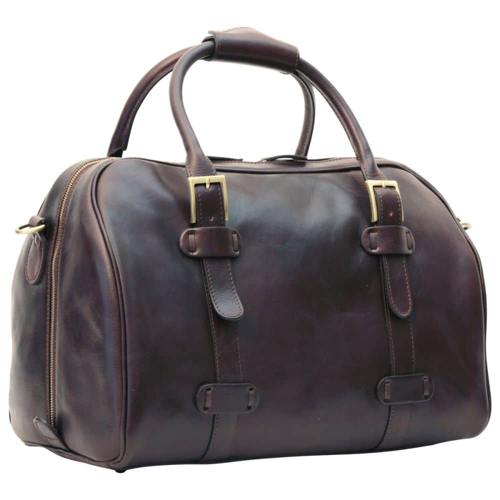 Front Duffle Bag Old Anger Dunkelbraun