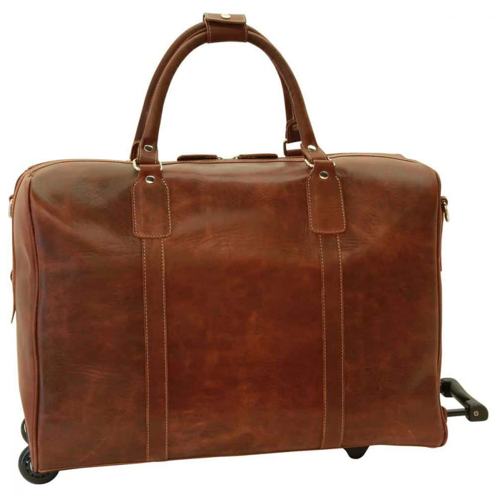Rückansicht Duffle Bag geöltes Kalbsleder braun