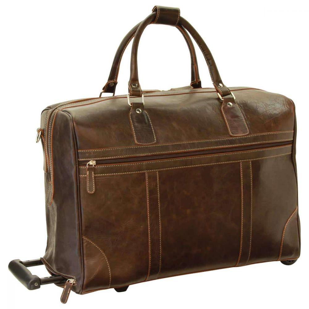 Front Duffle Bag geöltes Kalbsleder dunkelbraun