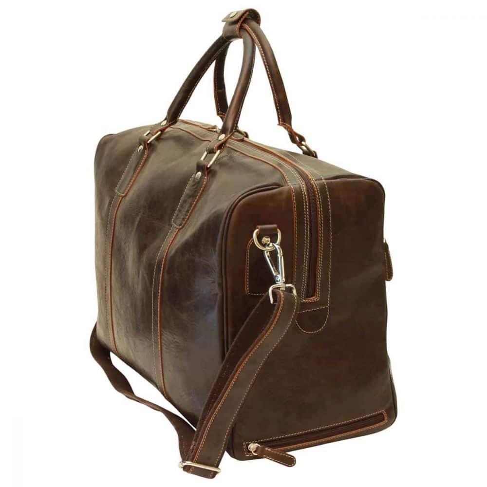 Elegante Duffle Bag geöltes Kalbsleder dunkelbraun