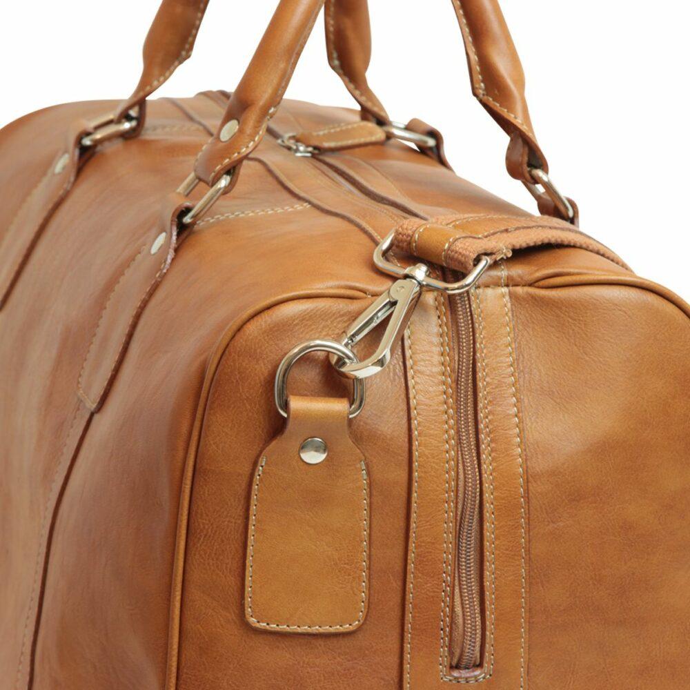 Nah Duffle Bag geöltes Kalbsleder kolonial