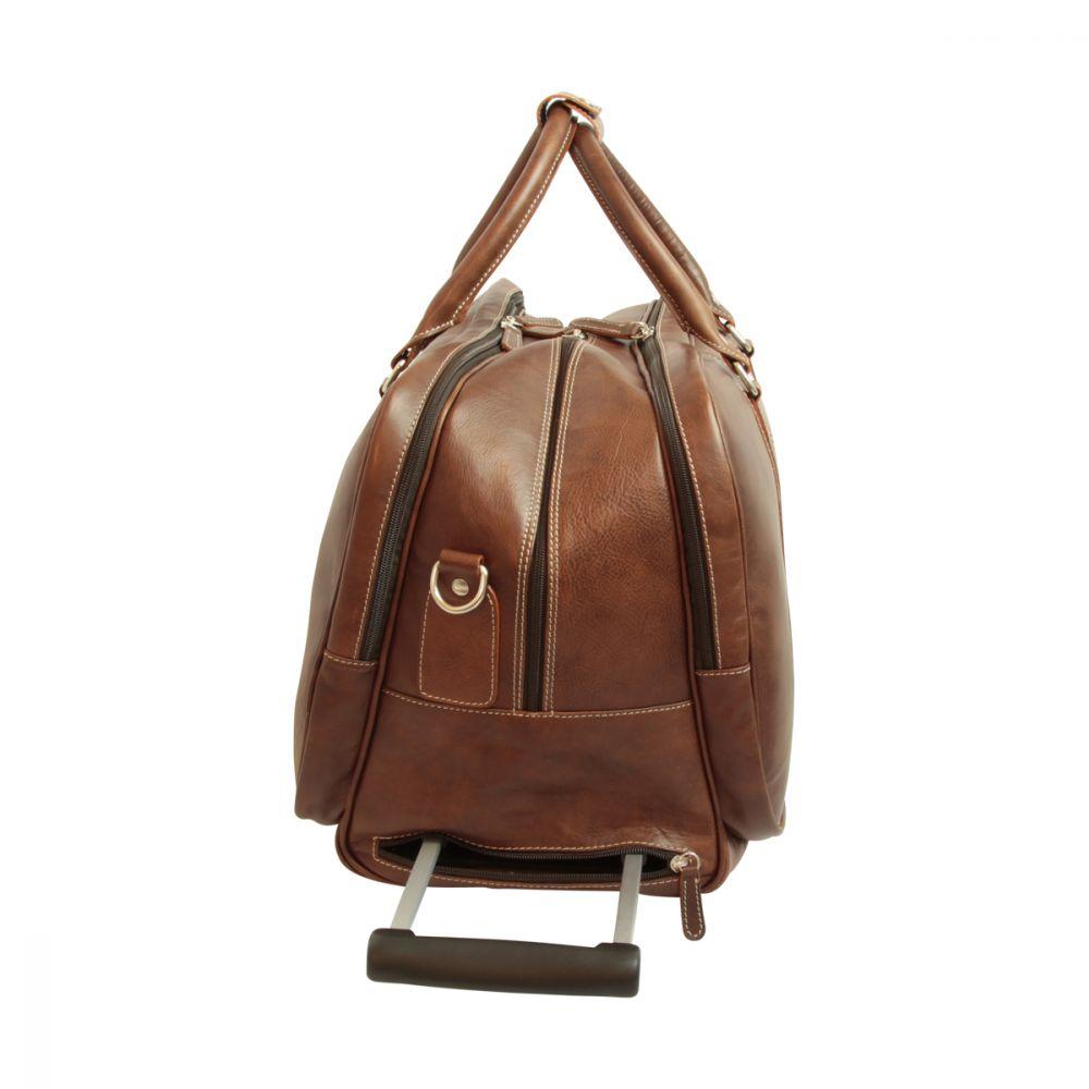 Seite Reisetasche New World Collection Dunkelbraun mit Griff