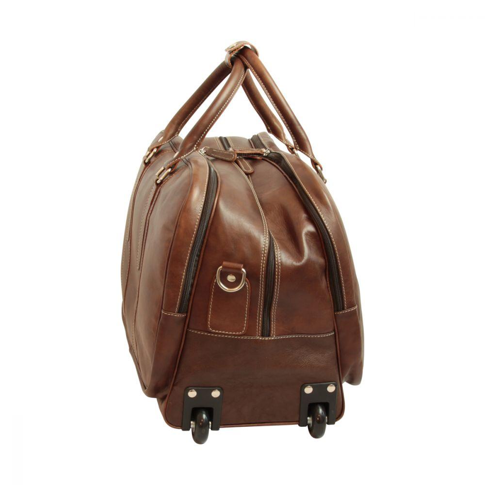 Quer stehende Reisetasche New World Collection Dunkelbraun