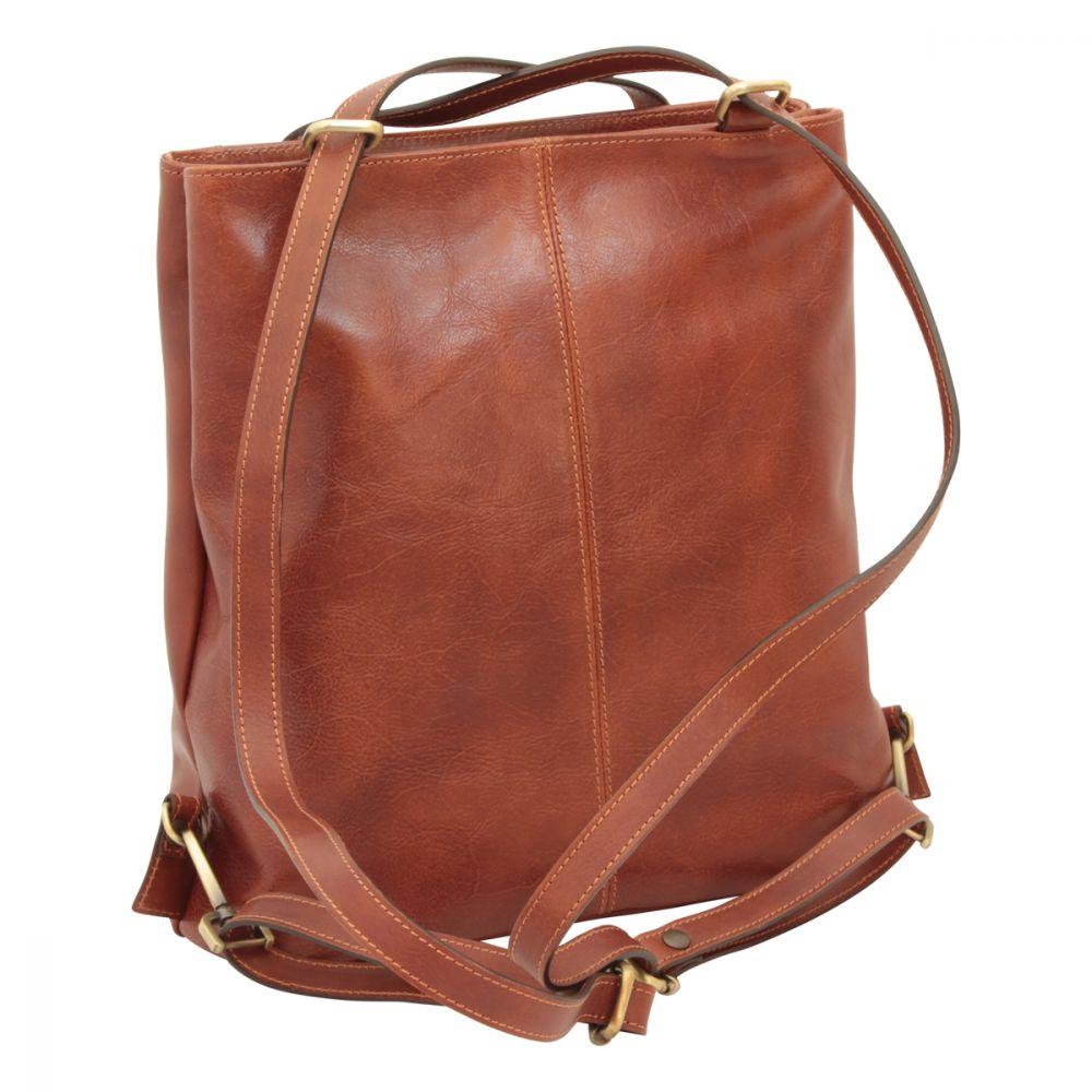 Rückseite offene Gurte Rucksack Umhängetasche