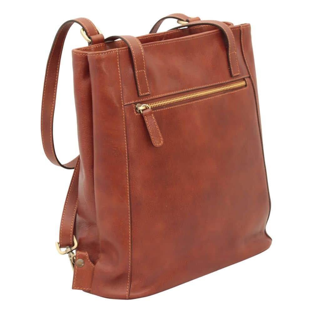 Quer stehende Rucksack Umhängetasche